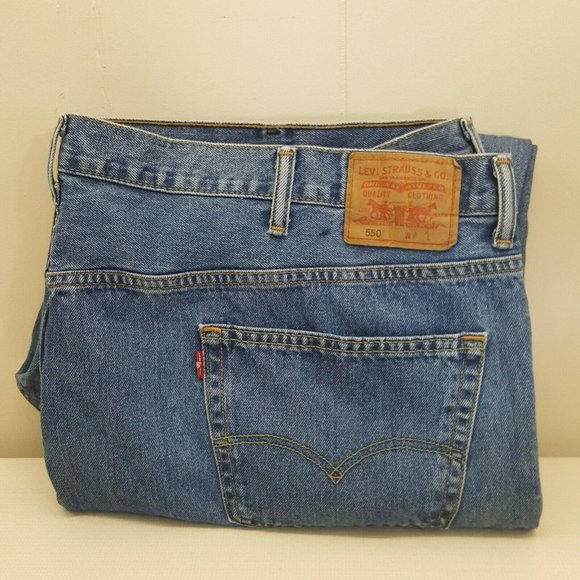 Levi 52x30 Blue Jeans Pants Denim Jean Zipper Fly